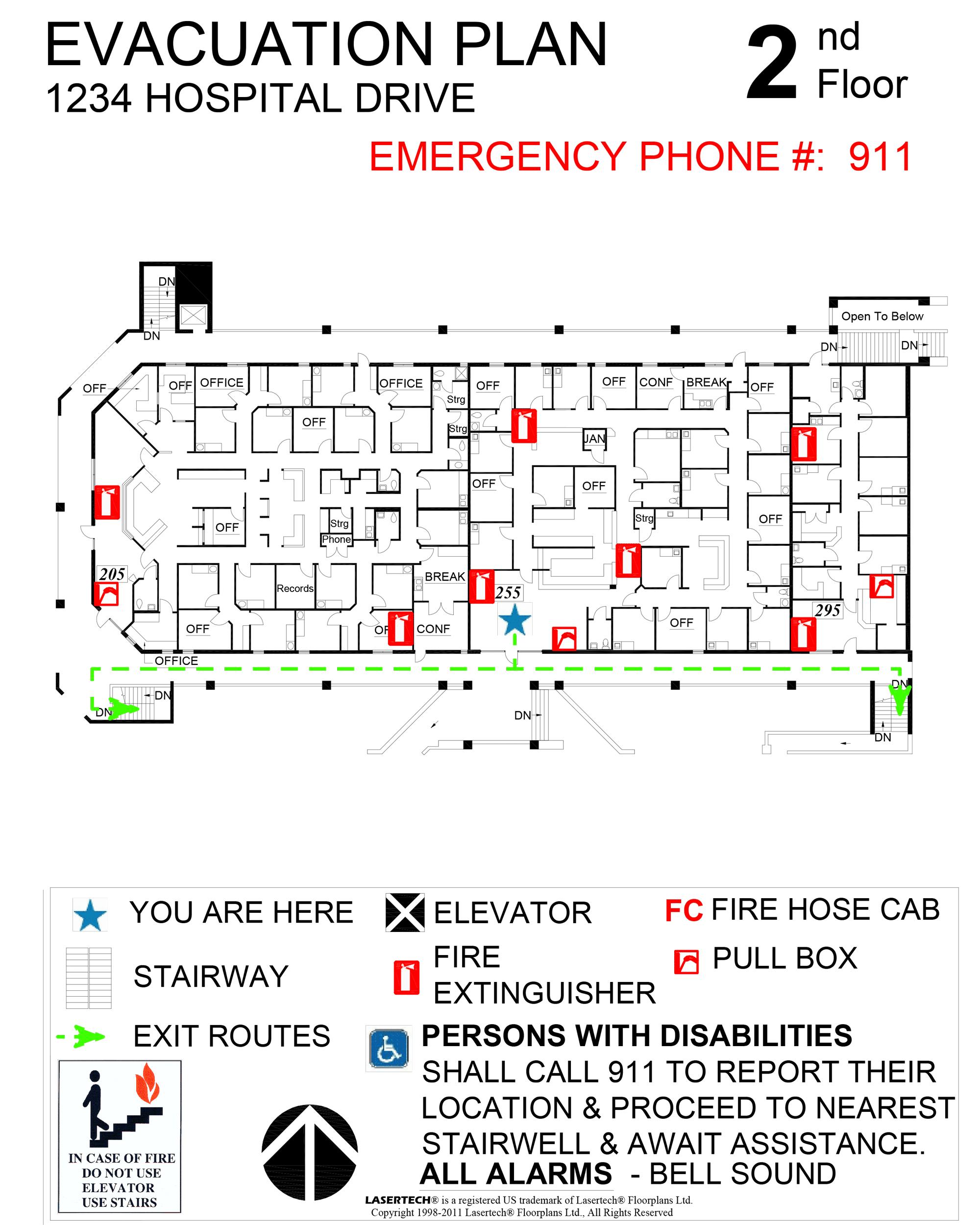 Emergency Evacuation Plans - Lasertech Floorplans